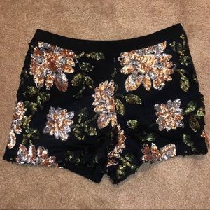 Endless Rose Floral Sequin Shorts